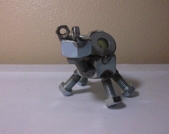 Turtle Baby Metal Sculpture