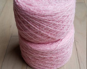 100% Cashmere Baby Pink Lace-Weight Yarn