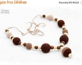 Christmas Sale SALE Breastfeeding Nursing mom necklace Teething necklace - brown,beige,cream, mom accessory.