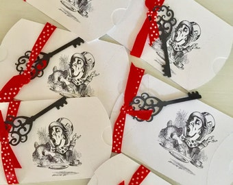 Six Mad Hatter Pillow Boxes