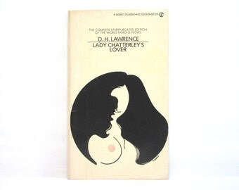 Lady Chatterley's Lover by D. H. Lawrence 1962 Vintage Book ~ Cover Illustration by Thomas Upshur