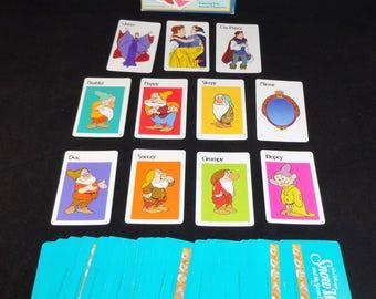 Snow White and the Seven Dwarfs Mirror Mirror on the Wall Card Game, Vintage Disney Snow White Card Game, Parker Brothers Snow White Game