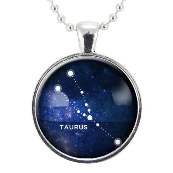 Taurus Constellation Necklace: Taurus Zodiac Necklace Constellation Jewelry Astrology Star