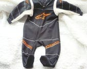 Baby Racing Sleeper To Match Dad's Racing Outfit