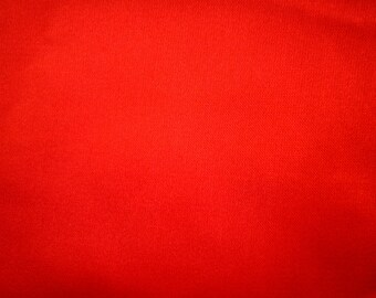 "Red Poly Satin Fabric 60"" Wide Per Yard"