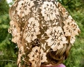 Copper Lace Mantilla Vintage,PO#Zc01