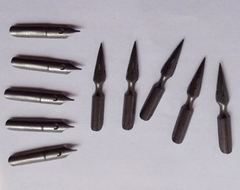 Vintage French dip pen nibs. (10 pieces)       (BX  01 )