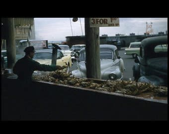 Crabs, 3 for 1.00 and Up, 1958: Kodachrome Red Border 35mm Slide/Transparency Vintage Photo Snapshot (7316-36)