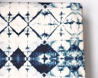 Crib Sheet in Indie-Blue, Boho Fitted Crib Sheet