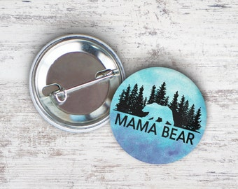 "Mama Bear 2.25"" Pinback Button"