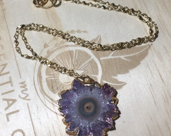 Pretty Little Amethyst Stalactite Necklace