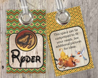The Lion King - Disney - Custom Tags for Backpacks, Luggage, Diaper Bags & More!