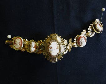 ClaudiaMyersDesigns vintage cameo collection bracelet
