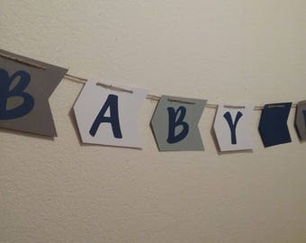 Tribal Baby Shower-Baby Boy Banner-Arrow Baby Banner