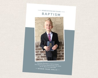 LDS baptism invitation