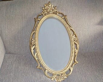 "Hollywood Regency Syroco Gold Mirror 29"" x 17""/ Mirror 19"" x 11"""