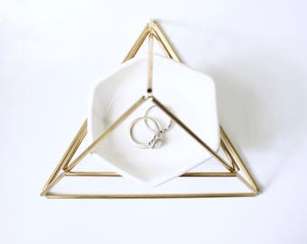 NEW! Brass Himmeli Jewelry Stand + Dish