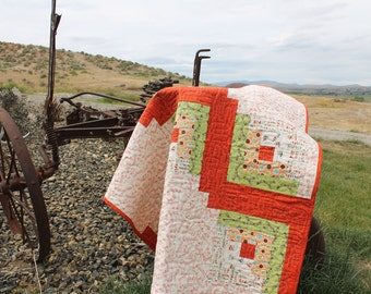 Vroom Vroom Red Wagon Baby Quilt