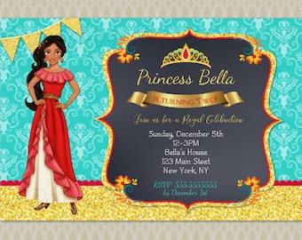 Elena of Avalor invitation, Elena of Avalor invitation, Elena of Avalor party, Elena of avalor birthday, Digital invitation