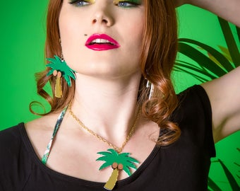 Palm Tree necklace - laser cut acrylic