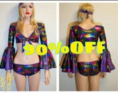 DISCO shiny sexy dance costume theme dress-up party Halloween go go dancer stage performance showgirl EDM concert rave by Maria Luck