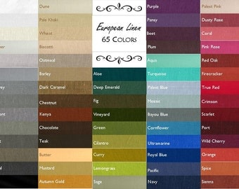 2 Linen Placemats//65 Colors//Sold in Sets of 2