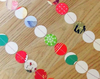 Paper Garland - Made from Recycled Christmas cards