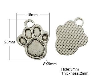 Paw Print Charms Paw Charms Paw Print Pendants Paw Pendants Dog Charms Dog Pendants Pet Charms Wholesale Charms Wholesale Pendants Bulk