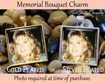 SALE! Wedding Memorial Bouquet Charm - Personalized with Photo