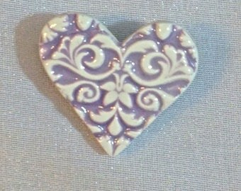Floral Heart Brooch Valentine Heart jewelry, Heart Brooch, Heart Jewelry, Love Heart, Gift of Love