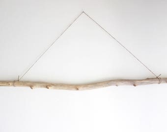 "1 Long Driftwood Branch -- Fine Quality Sea Wood Supply -- 85 cm (33.5"") Long -- For Macrame, Curtain, Clothes Rack, Wall Hanging Wovens"