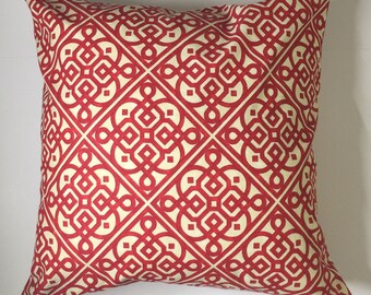 Pillow Cover 20x20, Throw Pillow, Red Pillow Cover, Decorative Pillow Cover, Throw Pillow, Cushion, Pillow Case, Ready to ship
