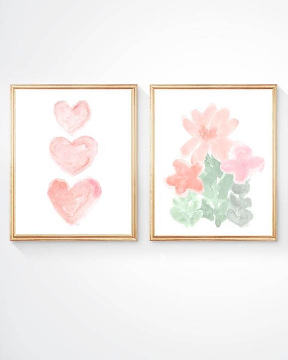Pastel Nursery Prints, Set of 2-8x10