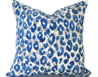 Outdoor Pillows ANY SIZE Outdoor Cushions Outdoor Pillow Covers Decorative Pillows Outdoor Cushion Covers Snow Leopard Cornflower