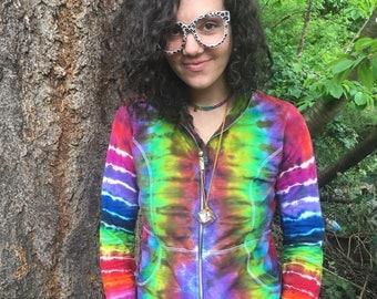 Merkabah rainbow womens hoodie size: medium
