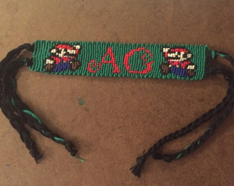 Personalized Mario Friendship Bracelet - Made to Order