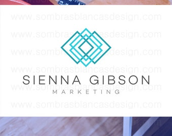 OOAK Premade Logo Design - Interlaced Squares - Perfect for a personal consulting brand or a marketing agency