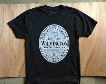 Wilmington, NC Stout Logo Charcoal Grey Tshirt Tee Shirt Cape Fear Beach