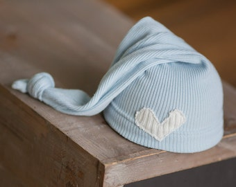Newborn Boy Hat, Upcycled Newborn Hat, Newborn Photo Prop, Newborn Boy Prop, READY TO SHIP newborn hat, Boy Photo Props, Blue Newborn Hat