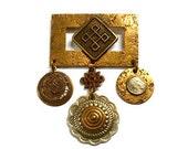 Vintage Marjorie Baer SF Mixed Metals Pin / Brooch