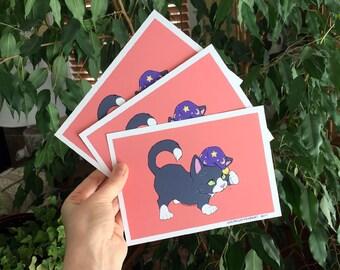 Wizard Kitten Print - S