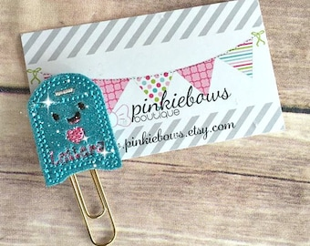 Blue/Pink/Gold/Valentine Mail Box/Sparkle Applique Paper Clip/Planner Clip/Bookmark/Journal Marker