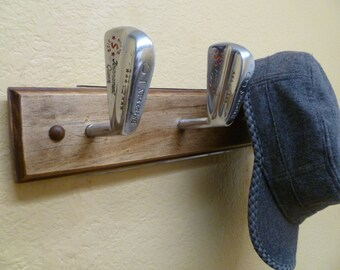 Vintage Spalding Tournament Queen Golf Heads Coat Rack