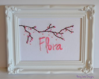 Personalized Hand Embroidered Name Sign