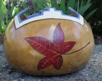 Maple Leaf Indian Gourd OOAK