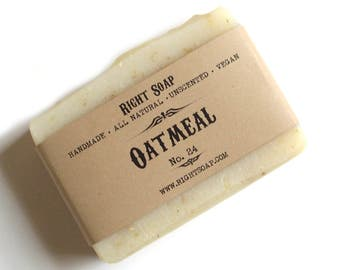 Oatmeal Scrub Soap - Scrub Soap, Exfoliating Soap, Body Scrub, Body Exfoliant, Unscented Soap, All Natural Soap, Scrub Soap Bar, Vegan Soap