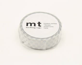 mt 1P Dot Silver Japanese Washi Tape  (MT01D366) Price depends on order volume. Buy other items together for BETTER price