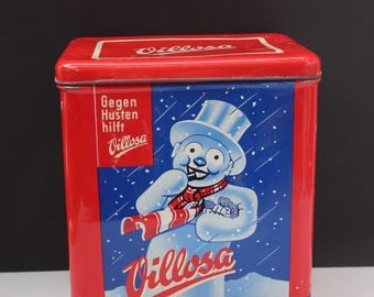 Tin box storage container Germany Villosa Hustelinchen Advertising