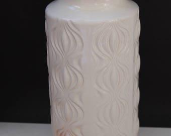 "1x Scheurich  ""Amsterdam"" onion   floor vase  285- 23 West German Pottery Ceramic MID CENTURY Lava Eames 60's white"