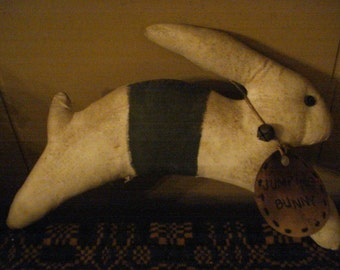 Primitive White Jumping Bunny Rabbit Doll